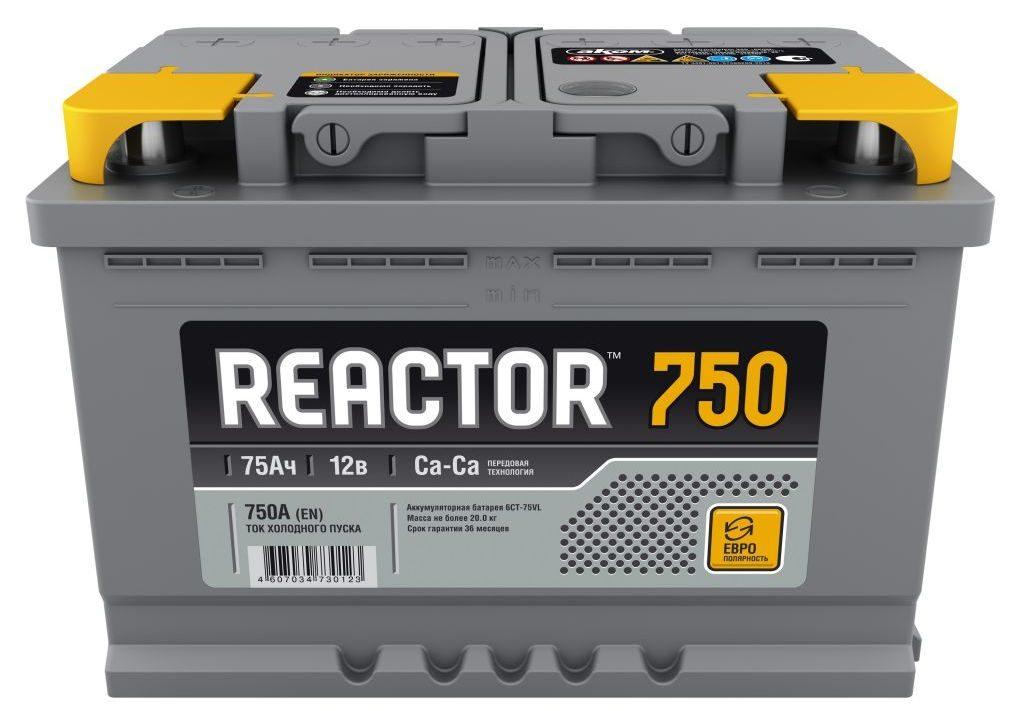 Автомобильный аккумулятор Reactor
