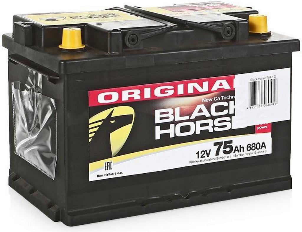 Автомобильный аккумулятор Black Horse 75