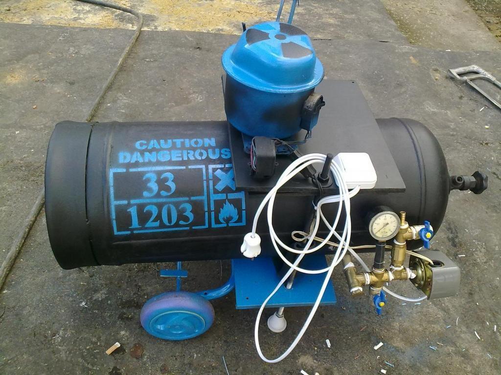 Компрессор из газового баллона
