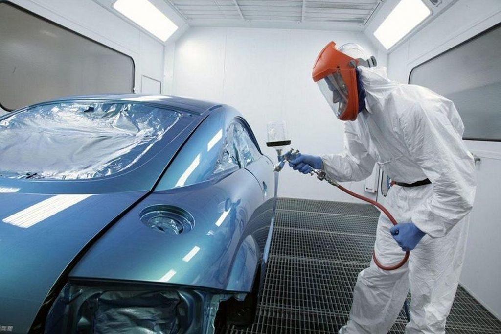 Нанесение краски ксералик на авто