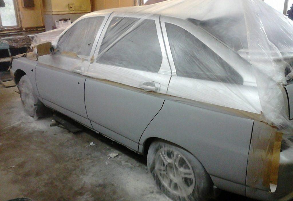 Грунтовка кузова машины