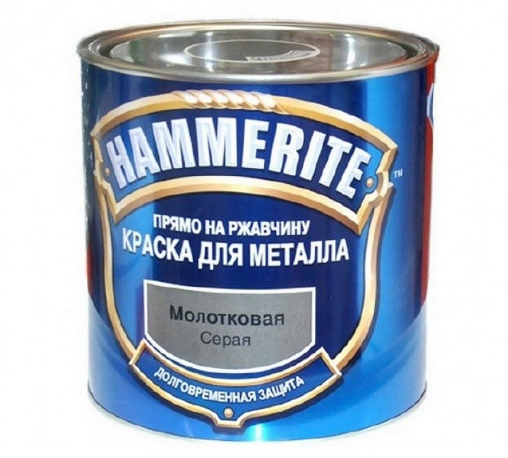 Эмаль HAMMERITE серая