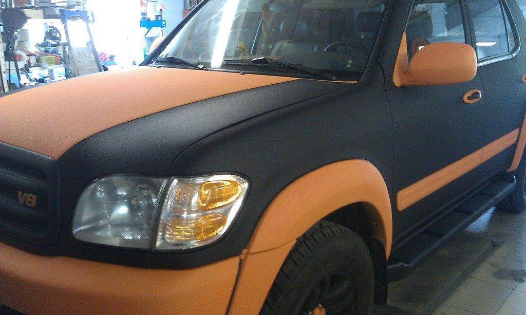 Покраска автомобиля «Раптором»